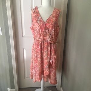 Coral dress high low